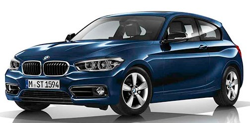BMW 1 Series 3-door Collor Blue
