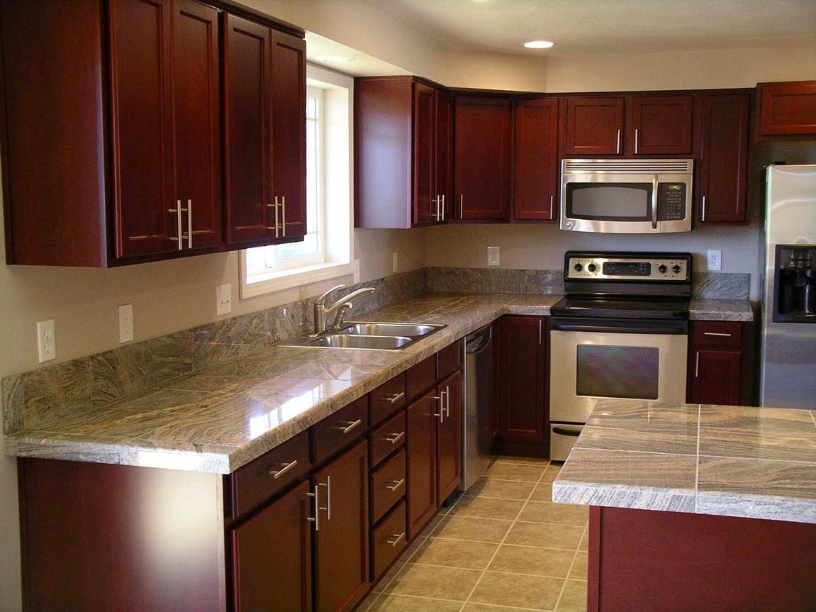 Kitchen Tile Backsplash Ideas Cherry Cabinets
