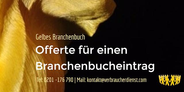 Titelbild: Gelbes Branchenbuch - Offerte - Abzocke? - Email