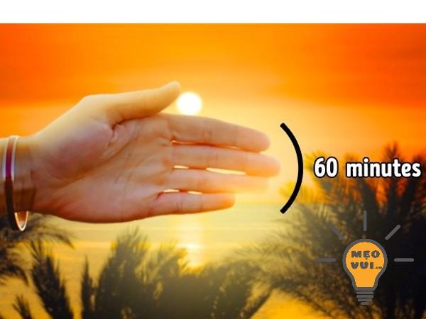 Xác định thời gian còn lại trong ngày trước khi mặt trời lặn