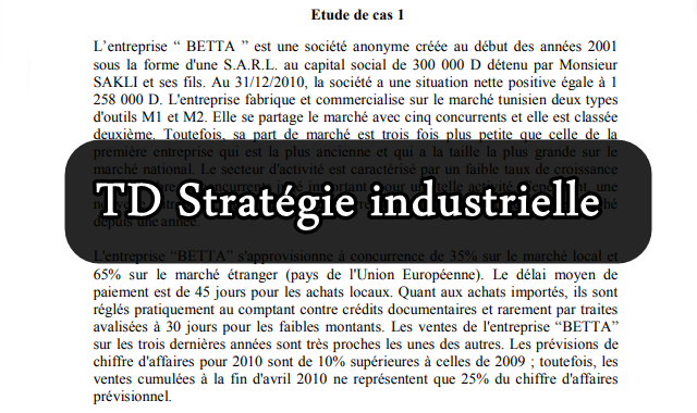 TD Stratégie industrielle corrigé