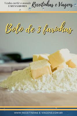 Como fazer bolo três farinhas