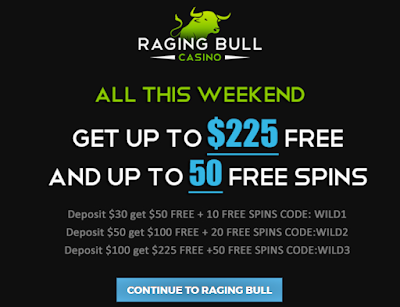Raging Bull Casino | Weekend Bonus Offer