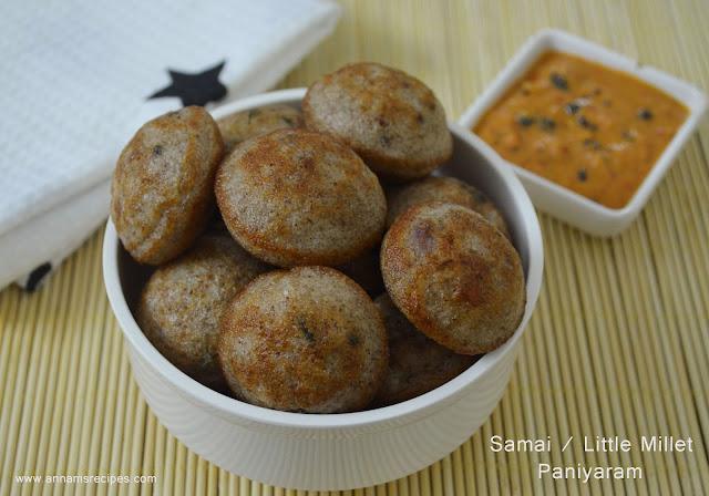 Samai Paniyaram / Little Millet Paniyaram