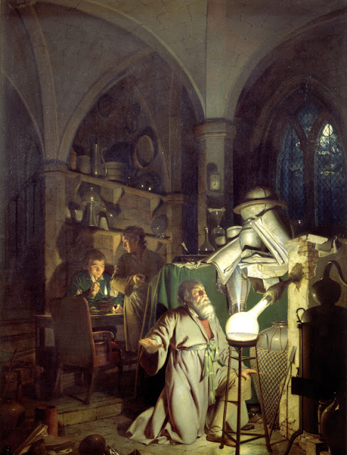 "Joseph Wright of Derby: ""Alchemist in Search of the Philosopher's Stone"""