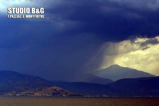 Καταιγίδα στην Αργολίδα - Ίδιο το σκηνικό το καιρού και την Παρασκευή (βίντεο)