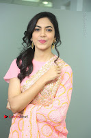 Actress Ritu Varma Pos in Beautiful Pink Anarkali Dress at at Keshava Movie Interview .COM 0086.JPG