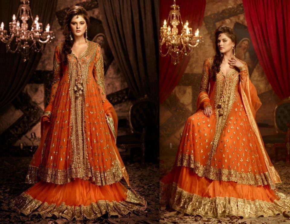 Orange Gown Wedding: Indian Ethnic Designer Wear And Bridal Wear With Free