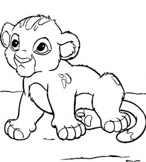 Cute Baby Lion Printable Coloring Pages Sheet For Free
