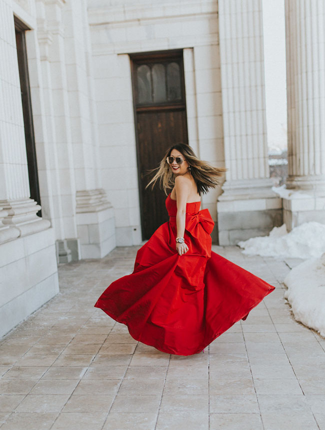 Red Soles and Red Wine, red jumpsuit, Best Valentine's Day Outfit, Jennifer Worman, Chicago Style Blog