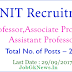 MNIT Recruitment 2017 for 282 Vacancies for Professors and More