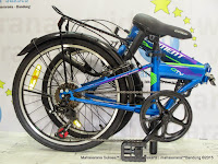 20 Inch Element City 7 Speed Folding Bike Blue