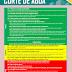 DICAS CORTE DE ÁGUA - RACIONAMENTO