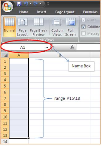 Memberi Nama Cell dan Range Excel
