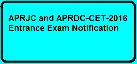 AP Rc.No.2212 APRJC and RDC-CET 2016 Entrance Exam Notification| Entrance Exam Notification for APRJC and RDC-CET 20162016/03/ap-rcno2212-aprjc-and-rdc-cet-2016-Entrance-exam-notification.html
