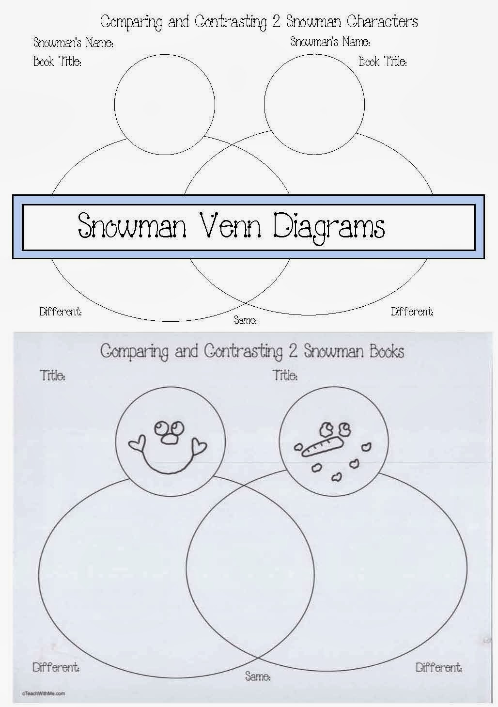 how to fill out a venn diagram 7n wiring snowman diagrams classroom freebies