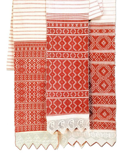Ritaul towel from Belarus embroidered in traditional style
