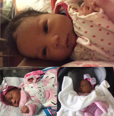 First photos of comedian Seyilaw's beautiful newborn daughter