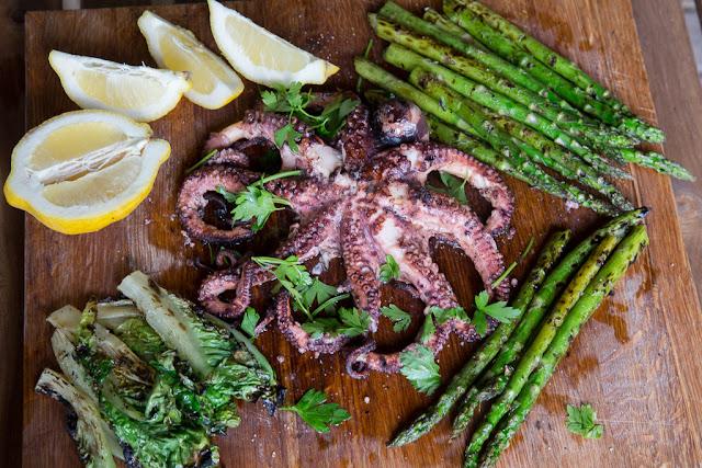 grillattu mustekala