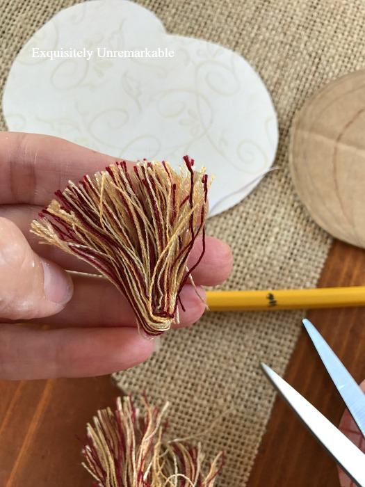 Using Sewing Trim Scraps In Fall Home Decor