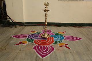 Traditional welcome floor art karur Prem Mahal Tamilnadu coimbatore