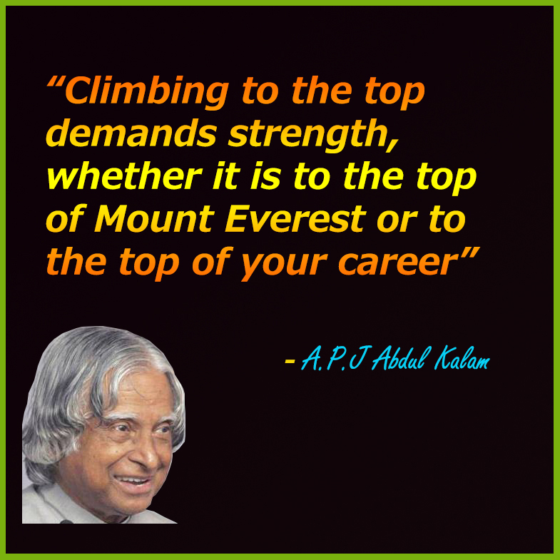 Best Inspirational Quotes By Abdul Kalam: TOP 10 Inspirational Quotes By APJ ABDUL KALAM