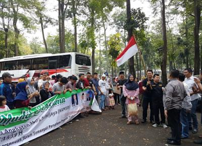 DPP KAMSRI Berangkatkan 7 Bus Mudik Bersama