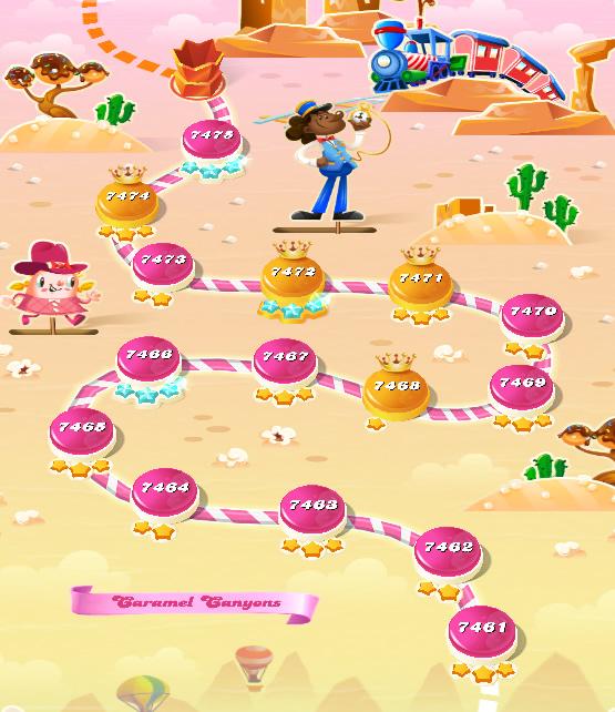 Candy Crush Saga level 7461-7475