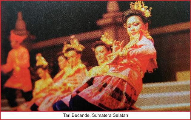kesenian tari becande sumatera selatan