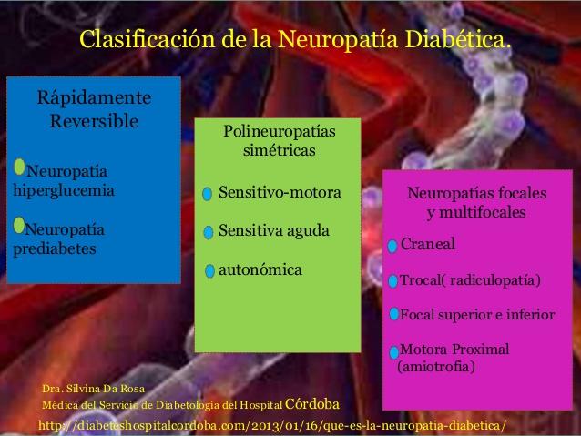 neuropatía en diabetes mellitus