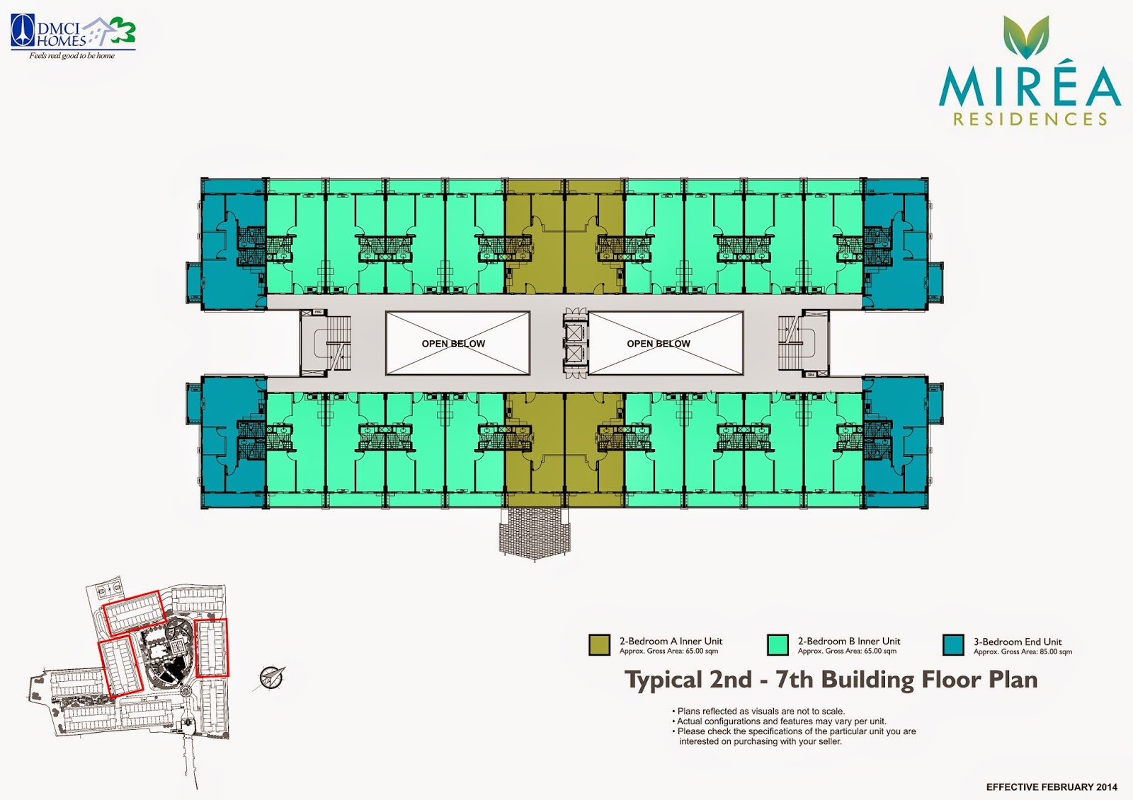 Mirea Residences 2nd - 7th Floor Plan