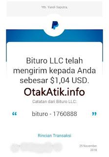 payment proof bukti pembayaran bituro