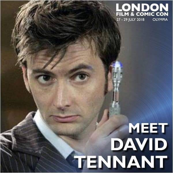 David Tennant - London Film And Comic Con fan convention