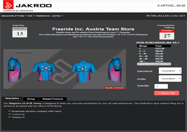Freeride Inc. Austria Bike Kollektion jetzt online bestellen