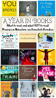What to Read and What NOT to Read -- reading recommendations for self-help, fantasy, parenting, classics, humor, memoir, mystery and more!  Mini book review of North and South, You are a Badass, I'm Happy for You (Sort of... Not Really), Secrets of the Capsule Wardrobe, Miss Peregrine's Home for Peculiar Children, Happier at Home, The Girl with All the Gifts, Ghost Gifts, Lunar Chronicles Scarlet, Cleaning House, The Girl on the Train, Yes Please, The Night Sister, Maisie Dobbs, and Pride and Prejudice and Zombies -- a book lover tells you what to read next! via Devastate Boredom