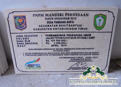 Contoh Prasasti PNPM