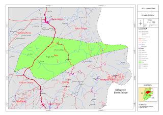 Peta Kecamatan Paku