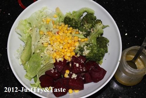 Resep Salad Sayuran dengan Dressing Rendah Lemak