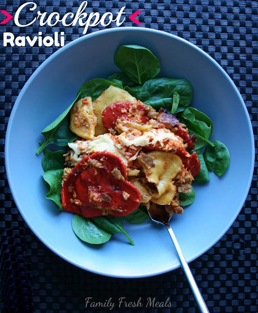 Crockpot Ravioli Lasagna