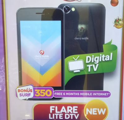 Cherry Mobile Flare Lite DTV; Quad Core with Digital TV for Php1,699