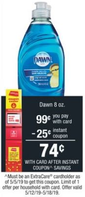 Dawn Dish soap cvs deals