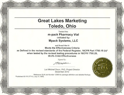 MPACK Child Resistant Certification