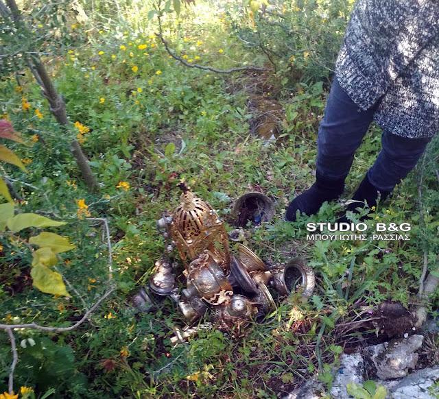 Εκκλησιαστικά αντικείμενα εντόπισε νεαρός στους πρόποδες του Παλαμηδίου στο Ναύπλιο
