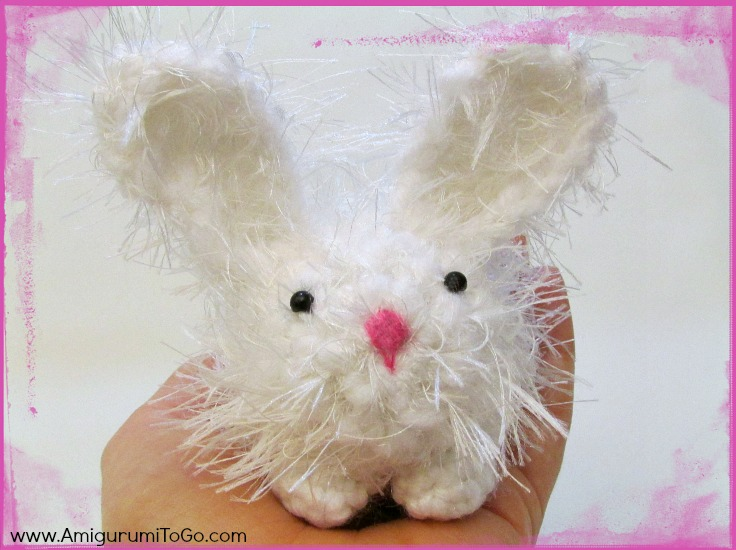 white Crochet dust bunny