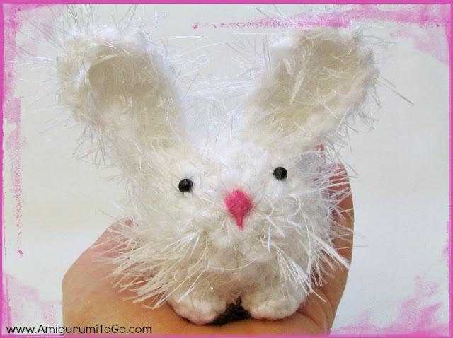 white Crochet dust bunny