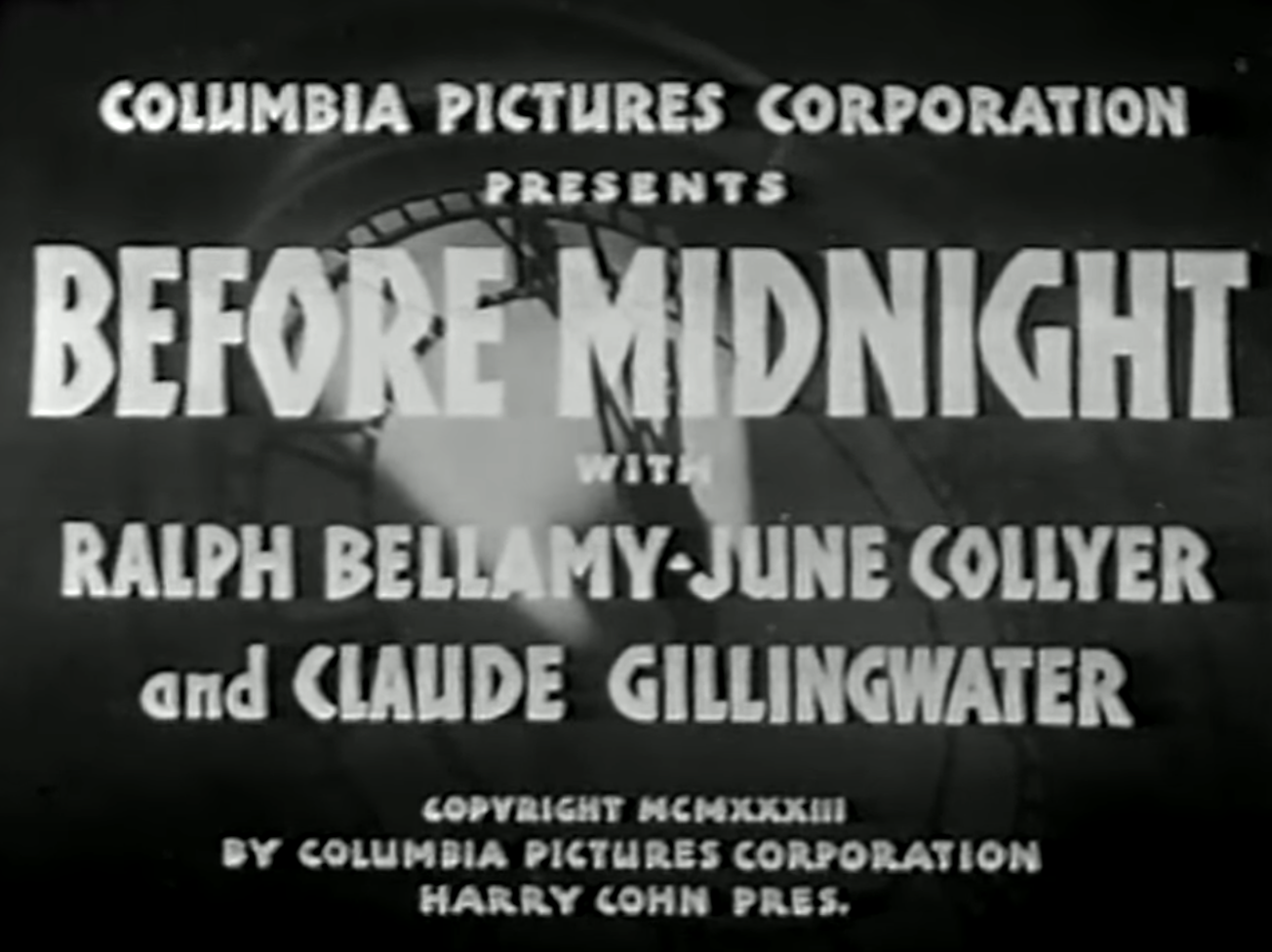 Quota Quickie A Movie Review Blog Before Midnight 1933