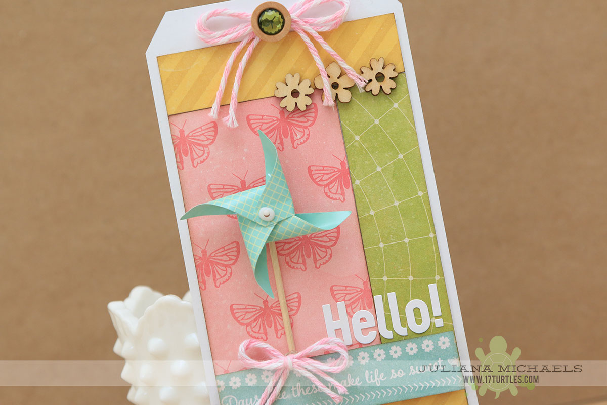 Sneak Peek Hello Tag by Juliana Michaels featuring Jillibean Soup for Scrapbook Generation's Create Magazine March 2015