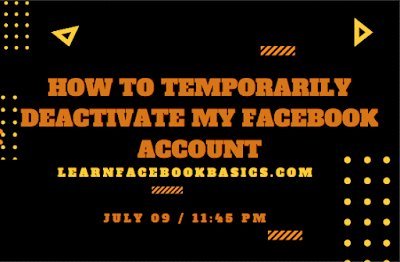 Deactivating Facebook Account on mobile
