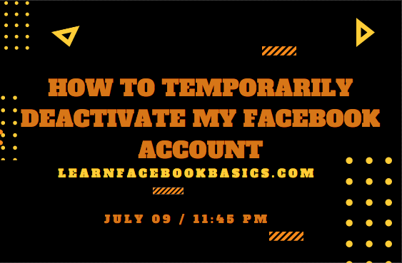 How to Deactivate My Facebook Account Step by Step